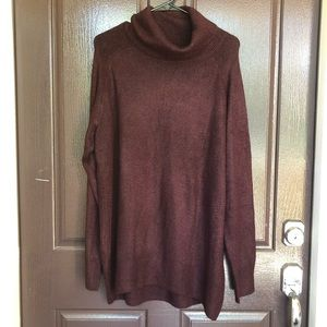 Maroon turtleneck sweater!